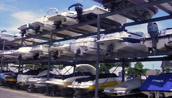 Powerboat owners have the option of full-service marinas that load and unload your vessel to and from an advanced storage system, gas it up, and have it ready to run the water as fast as it takes to order a pizza.