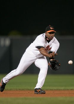 Photo courtesy Baltimore Orioles Former Baltimore Oriole Miguel Tejada ranks ninth among shortstops of all time in potential runs per game.