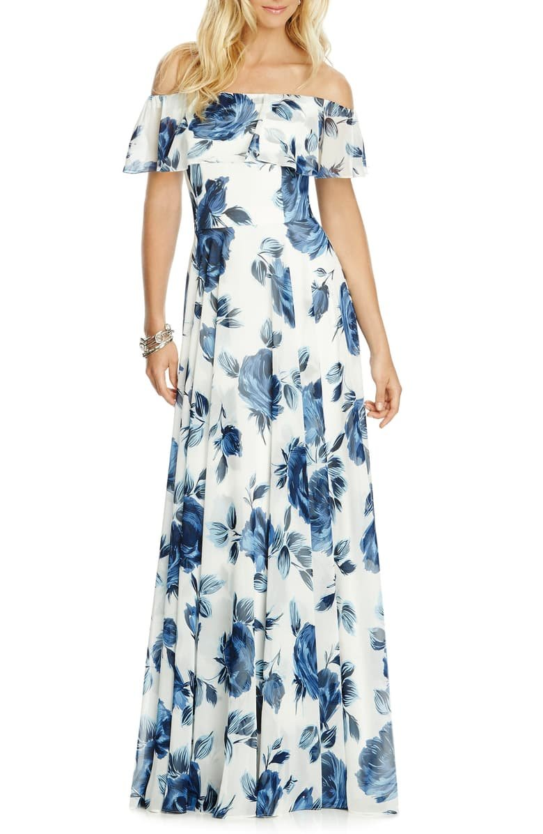 Floral chiffon After Six