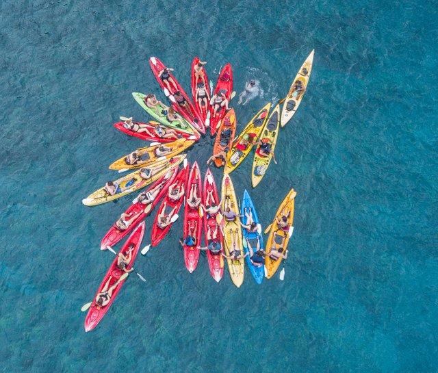 Rich Isaacman, Kayaking, Drone Photograph, Martino Gallery Maryland Hall.jpg