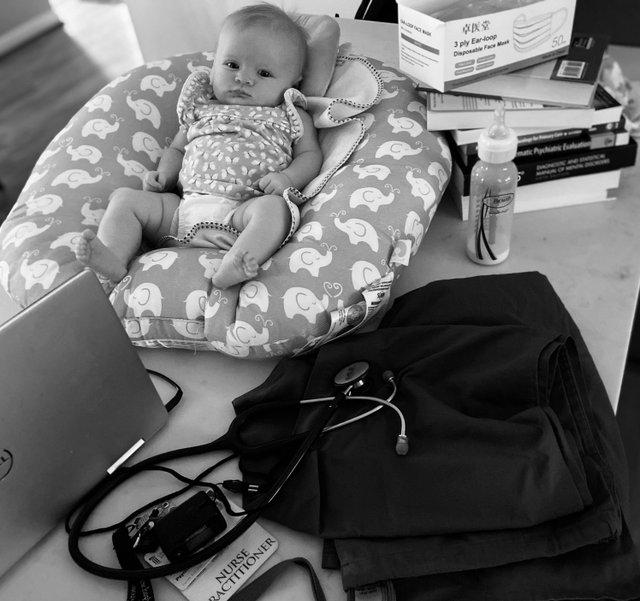 Female Duality ''Nurse Practitioner-New Mother during Covid-19'' - Mattie Fenton.jpg